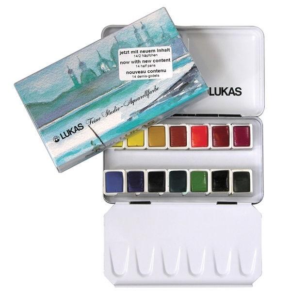 Estojo compacto 14 cores aquarela Lukas Studio