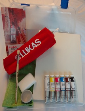 Maleta plástica óleo Lukas Studio 6 cores 20 ml