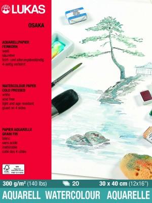 Papel para aquarela celulose Osaka 300 g/m2