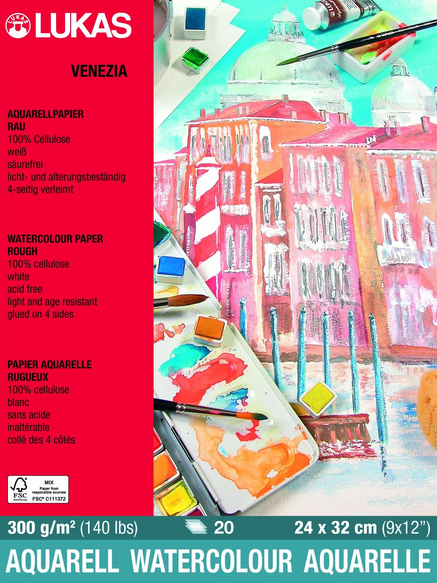 Papel para aquarela celulose Venezia 300 g/m2 pequeno