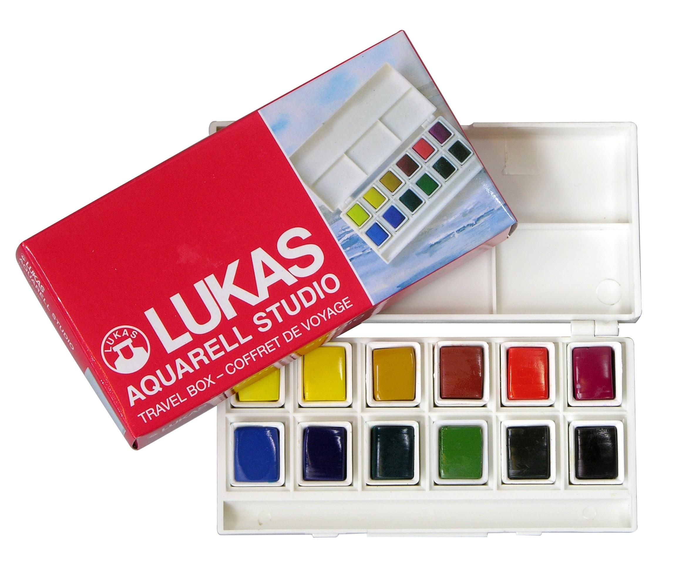 Estojo viagem 12 cores aquarela Lukas Studio