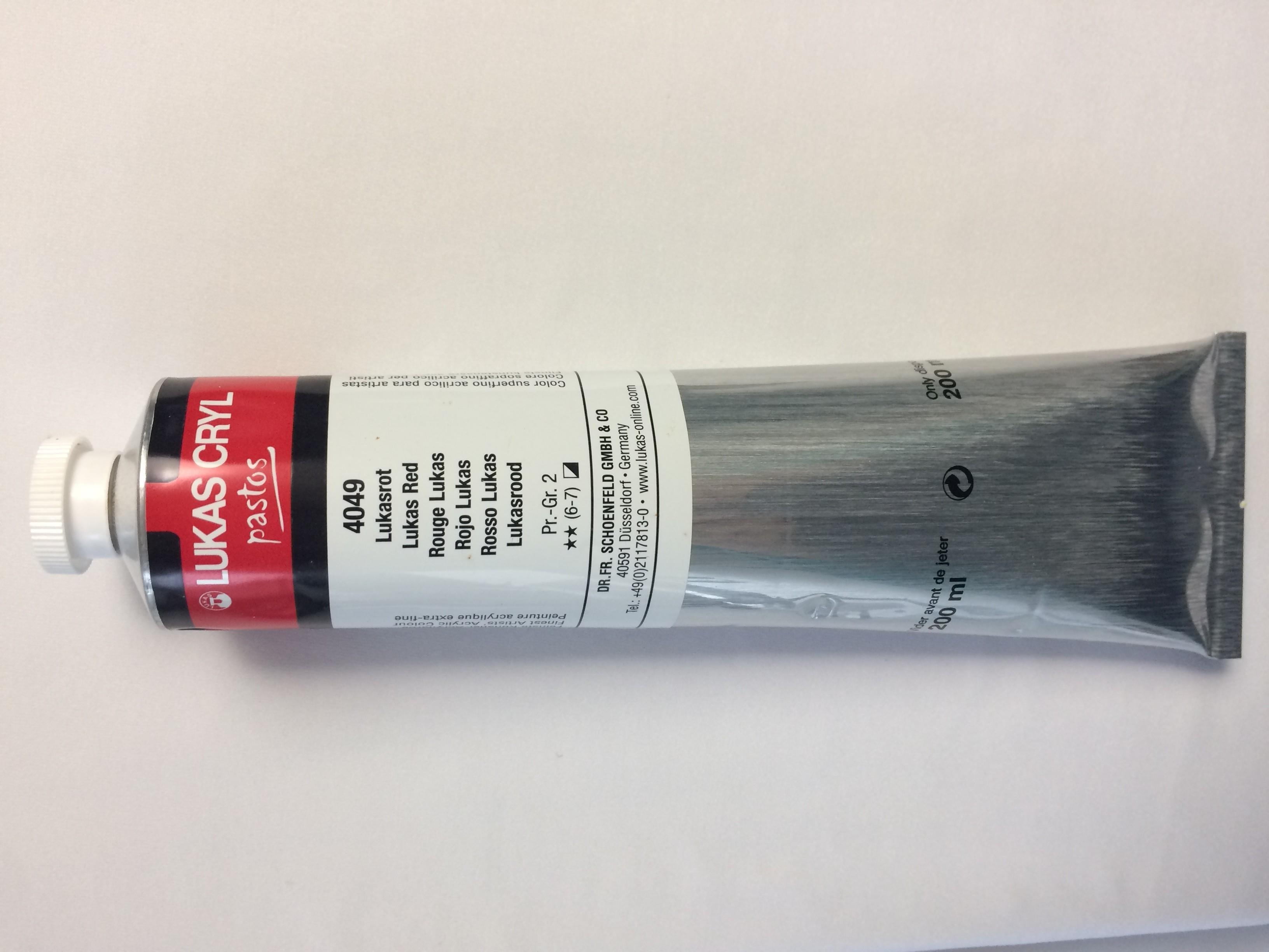 Tinta acrílica pastosa master Cryl Pastos (200ml)