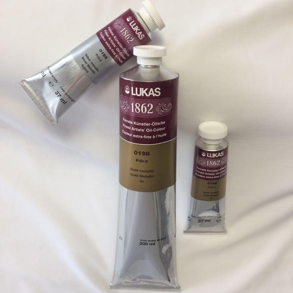 Tintas metálicas - dourado / ouro / prata / bronze / cobre (óleo)