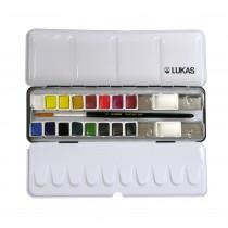 Estojo 16 cores aquarela Lukas Studio - PRONTA ENTREGA