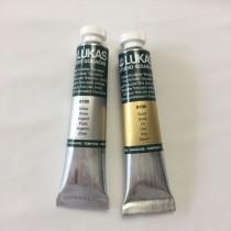 Tintas metálicas - dourado / ouro / prata / bronze / cobre (aquarela e gouache)