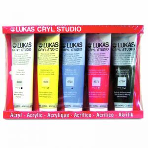 Kit Cryl Studio 5 cores 125 ml