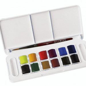 Estojo 12 cores 7,5ml ,aquarela opaca Lukas Terzia